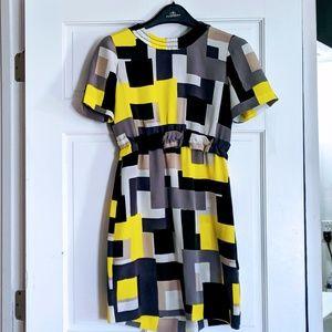 KATE SPADE New York 100% silk geometric print dres